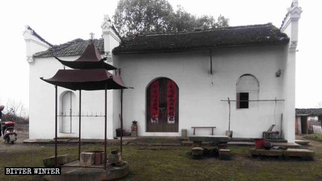 un templo budista en el poblado de Wusha