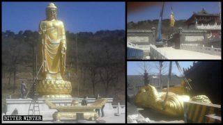 Más de 1200 estatuas budistas fueron quitadas