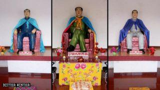 Mao Zedong es adorado como Buda