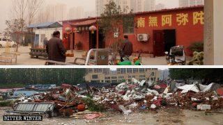 Funcionarios entusiastas destruyen cuatro templos en una aldea