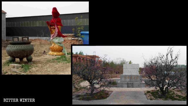la estatua de Kwan Yin fue eliminada
