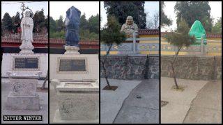 Estatuas budistas son destruidas antes de ser inspeccionadas por Pekín
