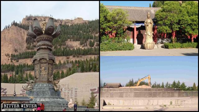 La estatua de Kwan Yin fue desmantelada en el mes de mayo