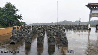 Eliminación del patrimonio cultural budista: 500 estatuas de Arhats fueron destruidas en Fujian