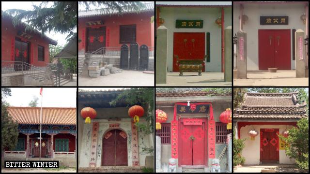 Dieciocho templos emplazados en el poblado de Guangwu fueron clausurados a mediados de mayo.