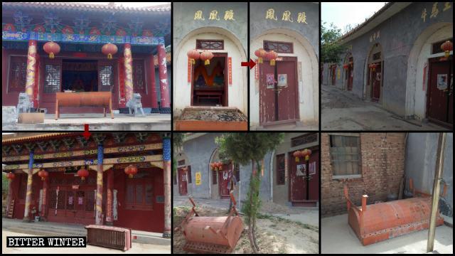 El gran templo de Fenghuangding fue clausurado el 13 de mayo.