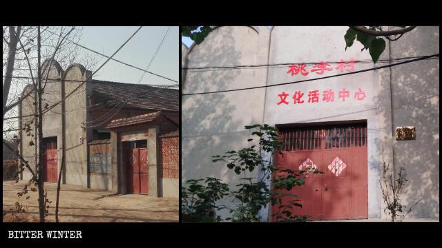La Iglesia del Verdadero Jesús emplazada en la aldea de Taoli fue convertida en un centro de actividades culturales.