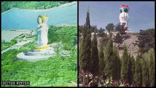 Más estatuas budistas fueron destruidas en cementerios y áreas escénicas