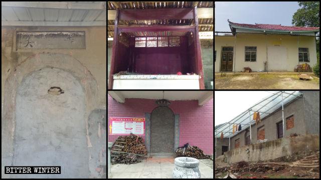 Múltiples templos han sido desalojados y las entradas a los mismos han sido clausuradas.