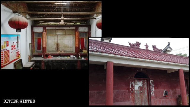 Una estatua budista fue quitada del templo de Zhujia y este fue cerrado.